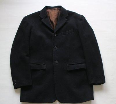 【G.Vintage】【G.Vintage】Bobs TAILOR  黑色羊毛三扣休閒西裝外套 L號