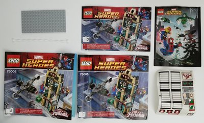 Lego 76005 MARVEL SUPER HEROES Spider-Man Daily Bugle Showdown 無盒全新