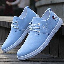 春夏季男士透氣帆布鞋休閒百搭潮防臭老北京布鞋運動韓版板鞋子男CY