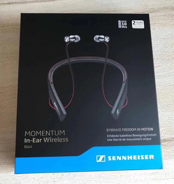 森海塞爾 MEIE2 SENNHEISER  MOMENTUM IN-EAR WIRELESS藍牙 入耳式耳機 1103