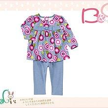 【B& G童裝】正品美國進口GYMBOREE花朵圖樣長袖長褲一組套裝6-12mos