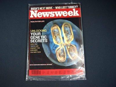 【懶得出門二手書】英文雜誌《Newsweek》UNLOCKING  YOUR GENETIC SECRETS (無光碟)│全新(21F32)