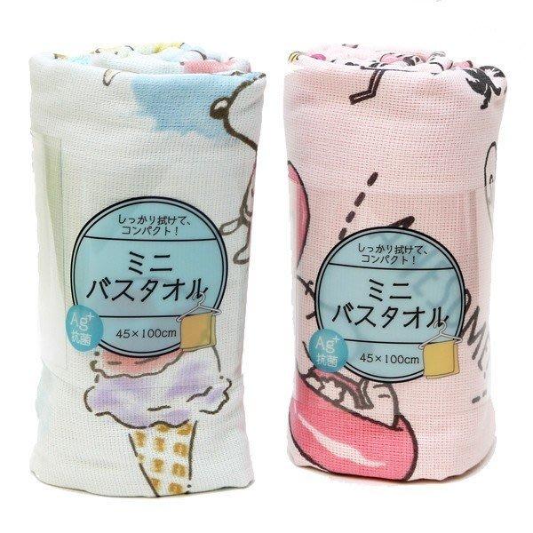 《散步生活雜貨》日本進口 PEANUTS - SNOOPY 史努比 夏天系列 迷你 浴巾-兩色選擇