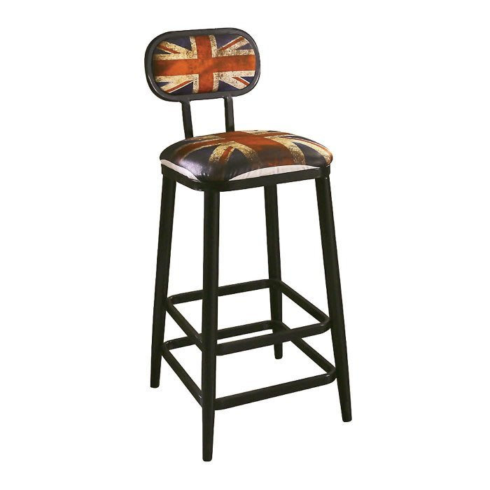 【DH】商品編號N489-10商品名稱英國米字旗吧台椅(圖一)工業風時尚經典.主要地區免運費