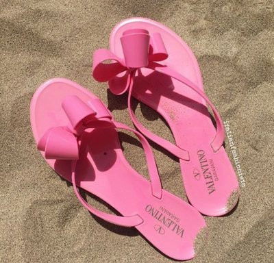 Valentino 汎倫鐵諾 VA2S0014 Flip-Flop Sandal 蝴蝶夾腳托 桃紅