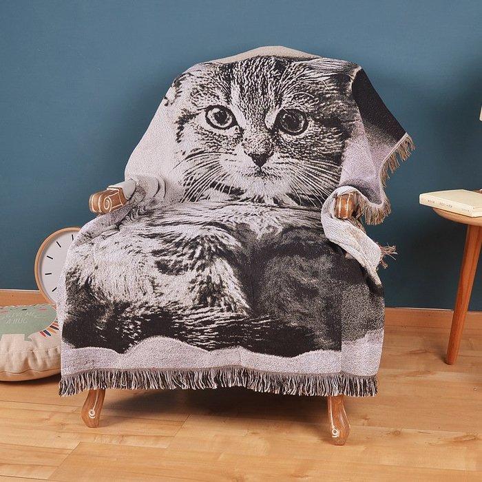 【Uluru 】貓咪 狗狗 流蘇針織毛毯 沙發毛毯 保暖毯 休閒毯 薄毯 編織毛毯 床單毛毯 沙發巾