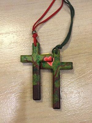 木質/十字架/自創/情侶對鍊/愛情/獨一無二/項鍊