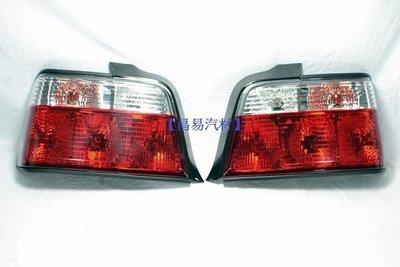 【昌易汽材】BMW 寶馬 E36 316 318 320 325 紅白晶鑽 尾燈 特價一組1900元