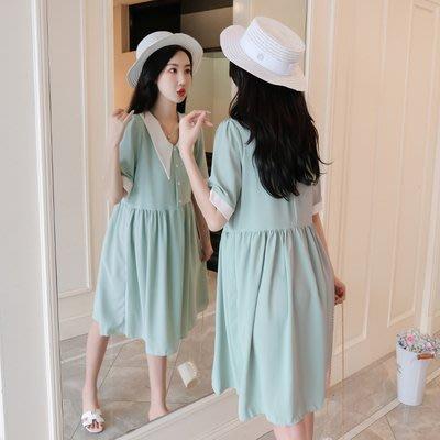 兩件免運費【哺乳衣】可哺乳【3118-A】9119孕婦連衣裙時尚新款天裙子潮媽過膝長裙哺乳孕婦裝裝連身裙餵奶孕婦裝十月產後