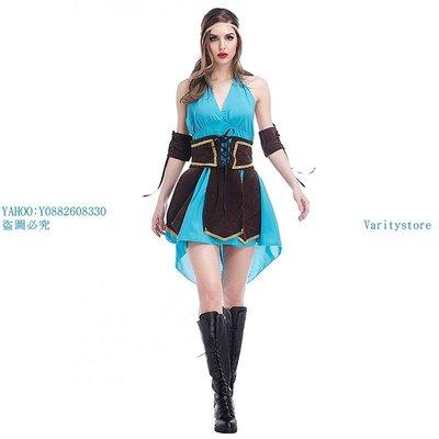 Varitystore品味前線萬圣新品cosplay服 羅賓漢服裝 制服套裝 綠林英雄 俠盜服