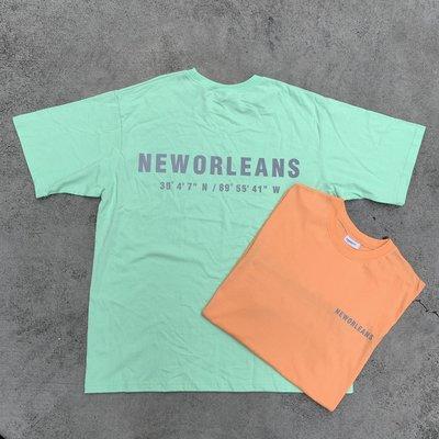 【inSAne】韓國購入 / 字母 / 3M反光 / 短袖 / 單一尺寸 / 橘色 & 螢光綠