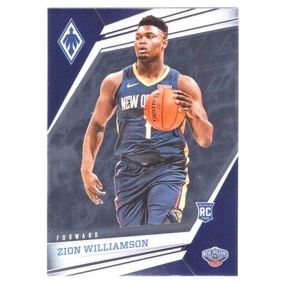 胖虎 Zion Williamson / Chronicles Phoenix Rookie系列新人RC涅槃金屬卡 2019-20