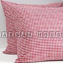 ╭☆凱薩小舖☆╮【IKEA】全新熱賣抱枕套-紅色格子趣-絕版限量