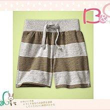 【B& G童裝】正品美國進口GAP Pull-on striped shorts 咖啡色條紋短褲6-12,18-24mos