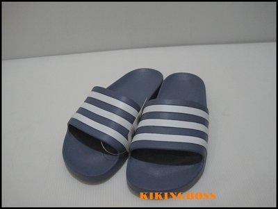 【喬治城】ADIDAS 愛迪達 運動拖鞋(紫白)F35533