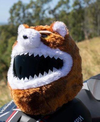 【丹】A_Moto Loot Helmet Cover 安全帽套 芝麻街 生氣熊熊