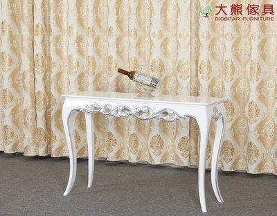 【大熊傢俱】CT0396 新古典玄關櫃 書桌 化妝台 梳妝台 歐式 法式 書桌 邊桌