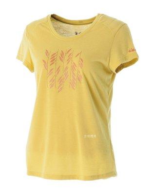 荒野 WILDLAND 女 印花 抗UV高透濕上衣 圓領上衣 T恤 短袖排汗衣 運動衣 吸濕快乾 除臭 0A51691