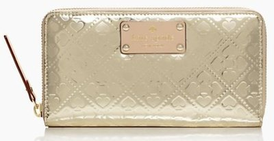 美國名牌kate spade 專櫃新款金桃拉鍊長夾錢包現貨在美特價$3580含郵