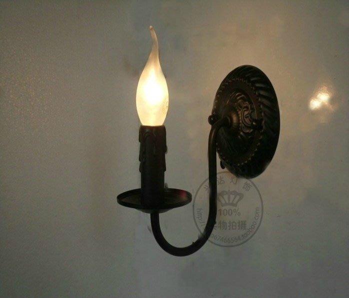 【奇滿來】批發價4個以上發貨,歐式宮廷壁燈 蠟燭燈 壁燈 陽台燈 走廊燈 迴廊燈 黑 白 古銅三色 便宜實用  AGAD