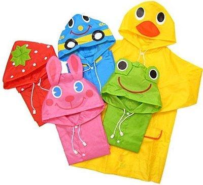 日本出口原單超輕巧 兒童雨衣/ 卡通造型雨衣 附收納袋 90-120cm適穿