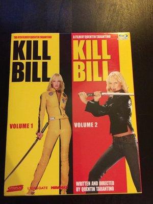 (全新未拆封)追殺比爾 Kill Bill 1 + 2 完整追殺版套裝 藍光BD(太古公司貨)