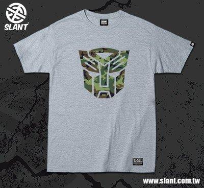SLANT 變形金鋼 LOGO 迷彩設計 Transformers 柯博文 大黃蜂 迷彩控 電影T恤 限量短袖棉T不撞衫