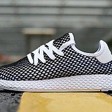 D-BOX  Adidas Deerupt Runner 時尚 運動 休閒鞋 網格 黑白