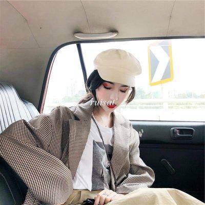 【ruisat】包郵 復古韓國 套裝女春新款中長款高腰半身裙+千鳥格西裝長袖外套