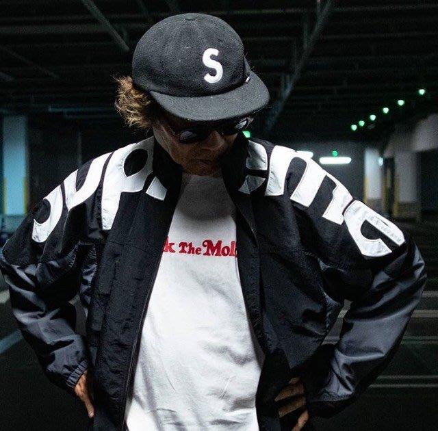 XinmOOn SUPREME FW19 Shoulder Logo Track Jacket 防風 外套 雙色 標語