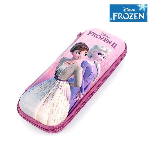 ♀高麗妹♀韓國 Disney FROZEN II 冰雪奇緣2 掀蓋式筆袋/拉鍊收納包(2款選)預購