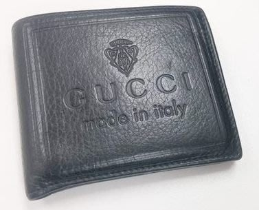 90%新【gucci made in italy】高貴黑色真皮錢包銀包Leather Wallet Purse(原$3,580)100%真貨,意大利