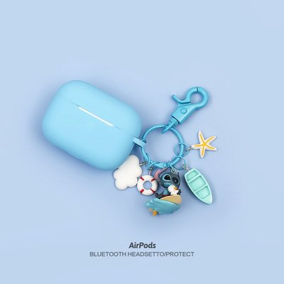 airPods保護套 耳機套 airpods pro保護套3代可愛史迪仔適用蘋果無線藍牙耳機殼2創意ins