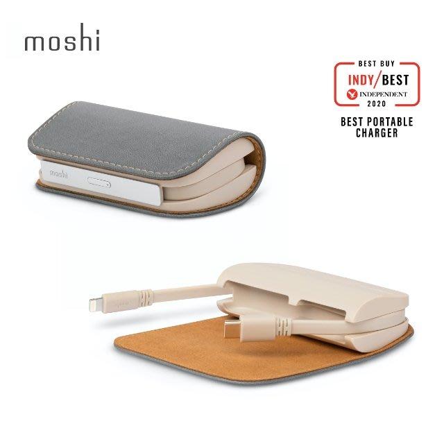 Moshi IonGo 5K Duo 雙向充電帶線行動電源 (USB-C 及 Lightning 雙充電線)