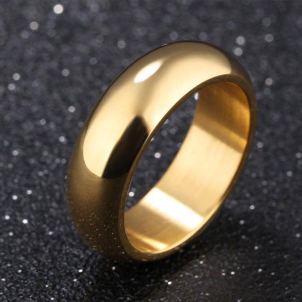 《 QBOX 》FASHION 飾品【R100N334】精緻個性素面單色百搭鈦鋼戒指/戒環(二色)