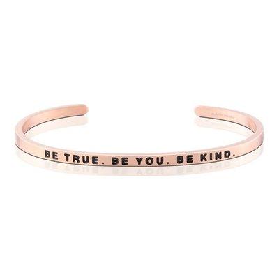 MANTRABAND 台北ShopSmart直營店 美國悄悄話手環 Be True Be You Be Kind 玫瑰金