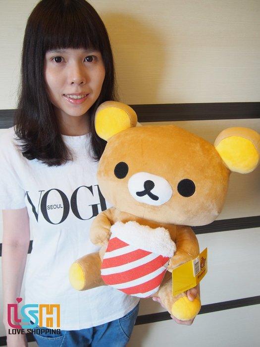 【愛購樂】 拉拉熊 爆米花款 44CM 正版授權 玩偶 娃娃 抱枕