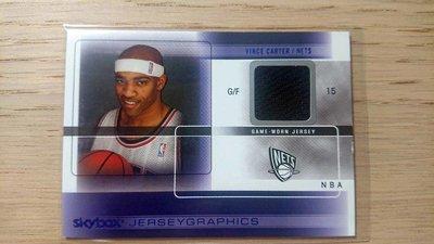 04-05 SKYBOX AUTOGRAPHICS NBA GAME WORN JERSEY #J-VC CARTER
