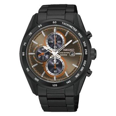 台灣限定限量400只 SEIKO Criteria太陽能計時腕錶/古銅x黑鋼/V176-0AP0B