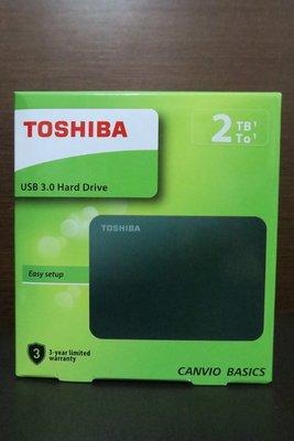 全新 TOSHIBA A3 2TB USB3.0 2.5吋行動硬碟 / 外接硬碟 黑靚潮III 2T 創見.威剛可參考
