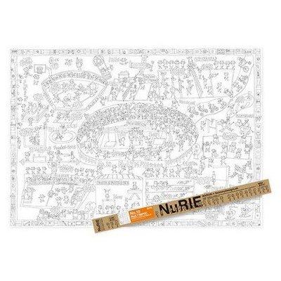 日本 NuRIE NuLYMPIC 超大尺寸著色圖(A0尺寸)【城市款】