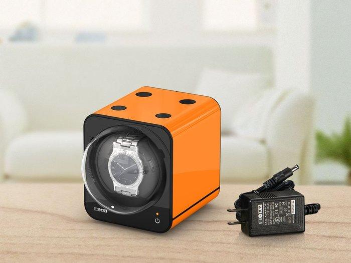 金鐸精品~B005~BOXY FANCY BRICK 橘色 手錶自動上鍊盒