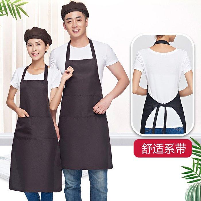 #推薦#廣告圍裙定制logo印字女廚房家用做飯餐廳奶茶店美甲時尚工作服男