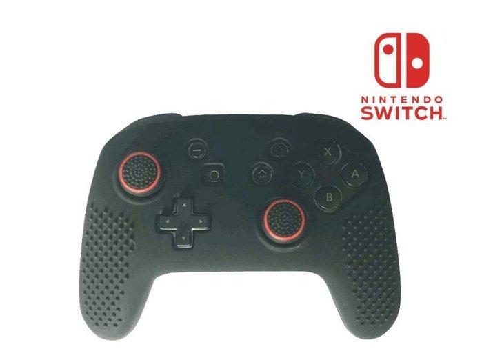 Nintendo 任天堂 Switch 控制器 Switch Pro 保護套+香菇帽 手把 果凍套 矽膠套
