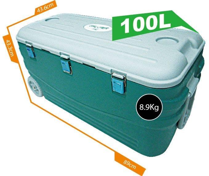 [奇寧寶雅虎館] 400041-A0 保冷王戶外休閒釣魚冰箱冰桶100L / 行動專用保存保冰保溫保冷藏箱保鮮箱活餌海釣