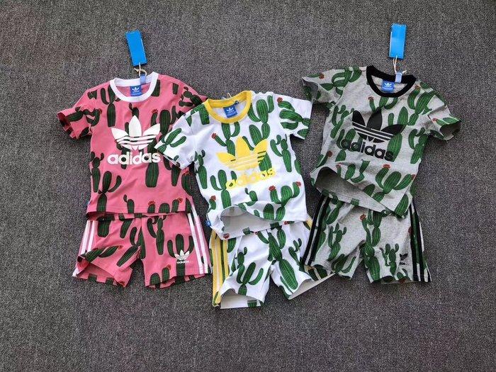 ☆║♥愷心小舖♥║☆愛迪達adidas 三葉草兒童套裝 男童 女童 仙人掌 香港 8月特價