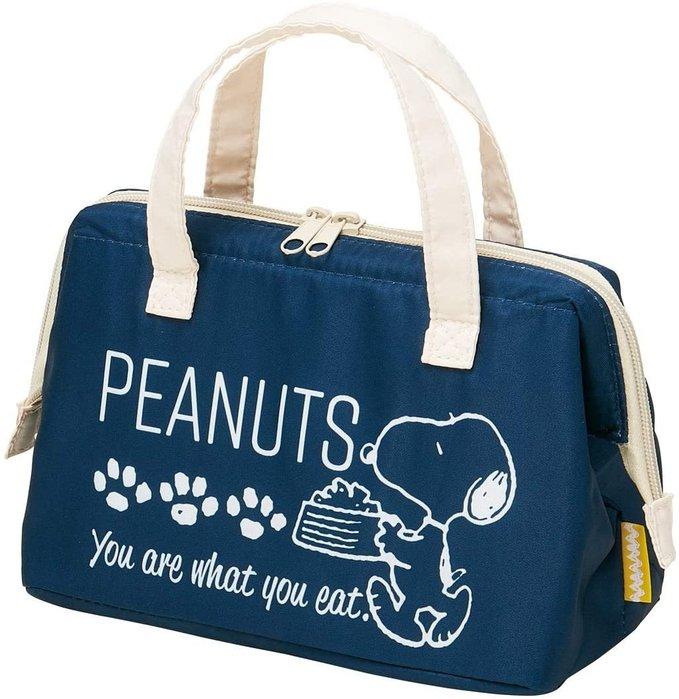 ☆Juicy☆日本 SNOOPY 史奴比 史努比 保溫包 保冷提袋 便當袋 托特包 野餐袋 手提袋 3256深藍