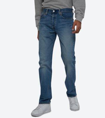 【彈姓新款28-44腰優惠】美國Levi s 501 NETTLE 深藍水洗 原創直筒 丹寧褲 經典排扣牛仔褲 彈性舒適