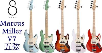 『立恩樂器』免運分期 / 電貝斯 Sire Marcus Miller V7 五弦 Ash 多色 2代 印尼製
