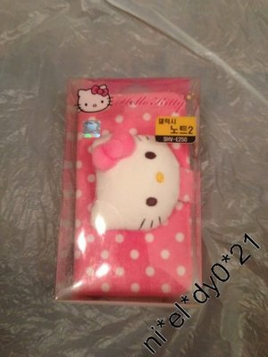HELLO KITTY  CUTE 粉紅 SMART PHONE CASE  (三星 GALAXY  NOTE II 專用保護殼)